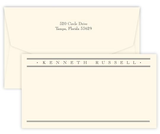 Triple Thick Churchill Wide Flat Note Cards