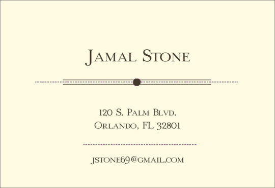 Stone Calling Cards