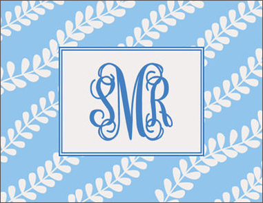 Blue Vines Folded Note Cards