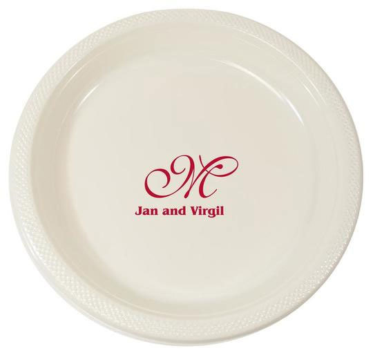 Virgil Monogram with Text Plastic Plates