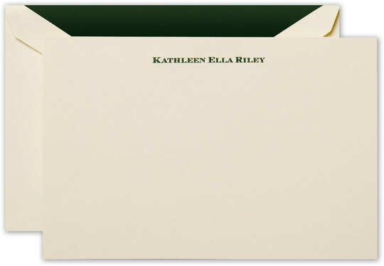 Hand Engraved Flat Correspondence Cards