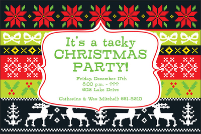 Tacky Sweater Invitations