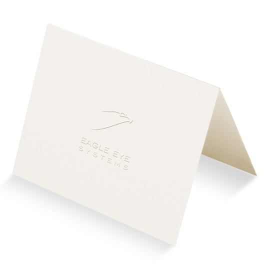 Embossed Folded Note Cards with Customer Supplied Artwork