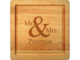 Maple 12 inch Square Mr & Mrs Personalized Cutting Board Image 1 of 2