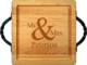 Maple 12 inch Square Mr & Mrs Personalized Cutting Board Image 2 of 2