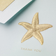 Hand Engraved Starfish Thank You Folded Note Card Boxed Set Image 2 of 2