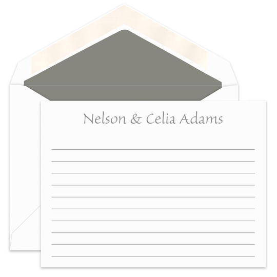 Simple Flat Correspondence Cards with Writing Lines