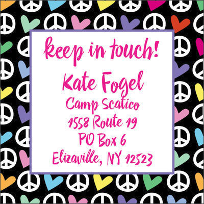 Peace and Love Camp Calling Cards