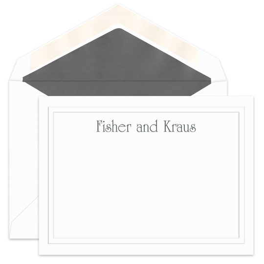 Elegance Flat Note Cards