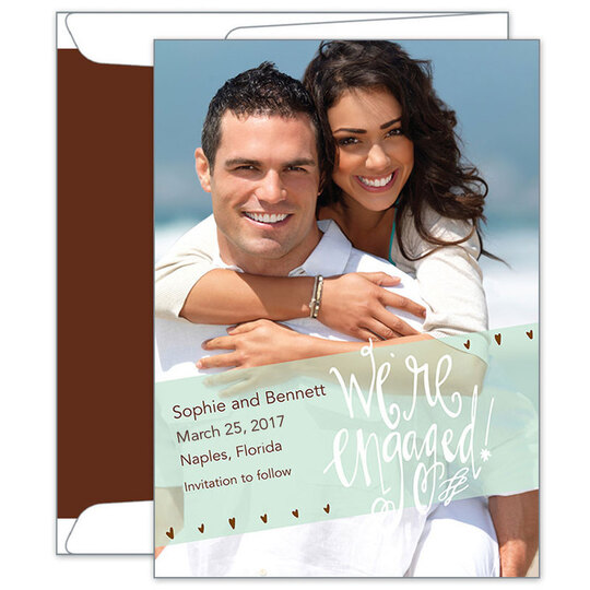 We're Engaged Save the Date Photo Cards