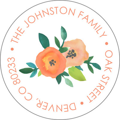Perennial Promise Round Address Labels