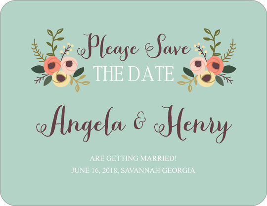 Botanical Bouquet Save the Date Cards