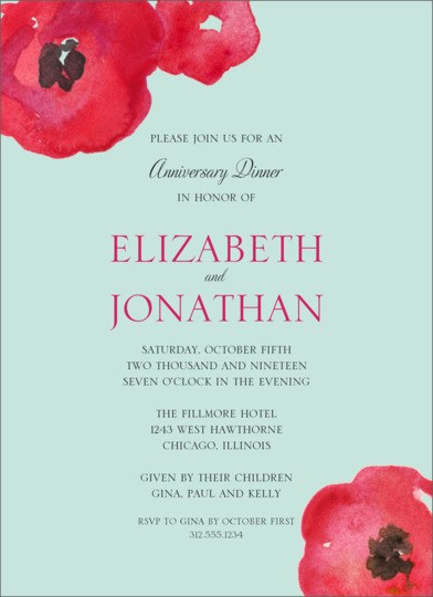 Painted Poppies Invitations