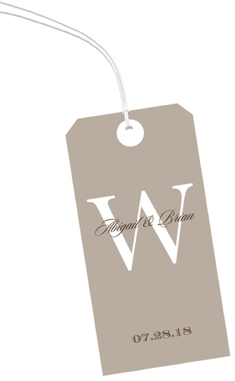Taupe Vertical Hanging Gift Tags