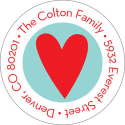 From the Heart Round Address Labels