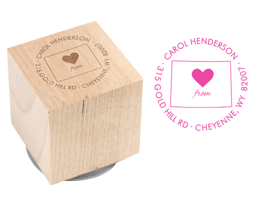 Love from You Wood Block Rubber Stamp