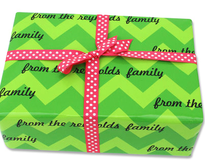 Chic Chevron Personalized Gift Wrap