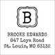 Brooke Initial Square Address Labels Image 2 of 2