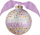 You're The Greatest Granddaughter Glass Christmas Ornament Image 3 of 3