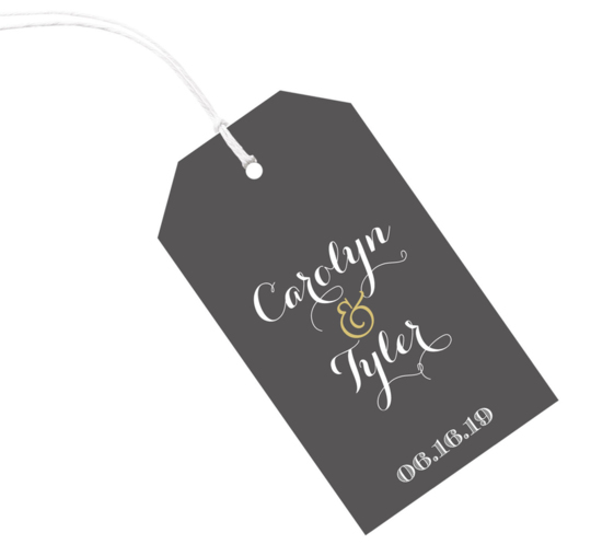Charcoal Vertical Little Hanging Gift Tags