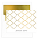 White Moroccan Gate Foil Stamped Foldover Note Cards with Lined Envelopes Image 1 of 5