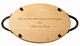 Maple 18 inch Oval Personalized Cutting Board Image 3 of 3