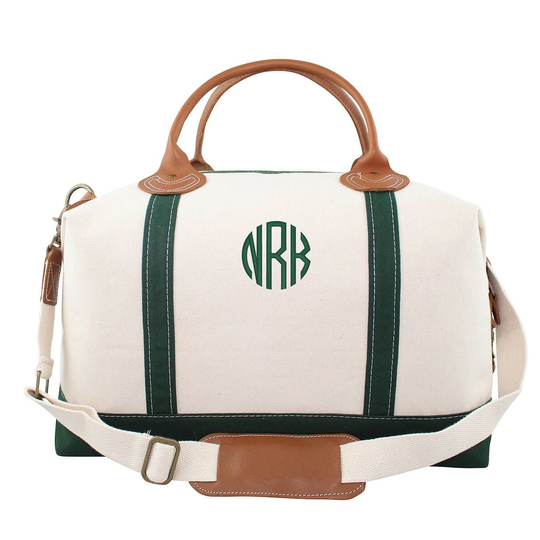 Personalized Green Trimmed Weekender