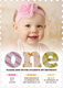 Pink First Birthday One Pattern Invitations Image 5 of 5