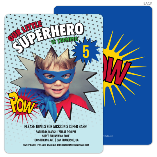 PPD IN SST44220A Superhero Birthday Invitations
