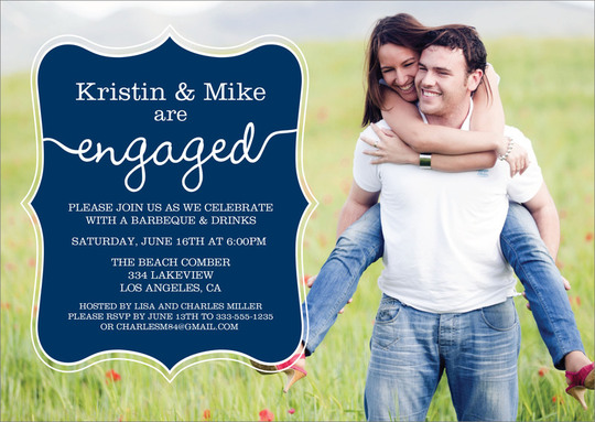 Navy Together Forever Engagement Invitations