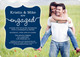 Navy Together Forever Engagement Invitations Image 4 of 5