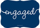 Navy Together Forever Engagement Invitations Image 2 of 5