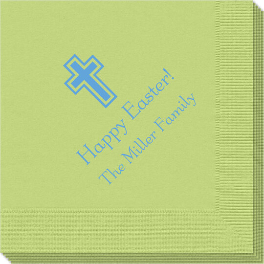 Outlined Cross Napkins