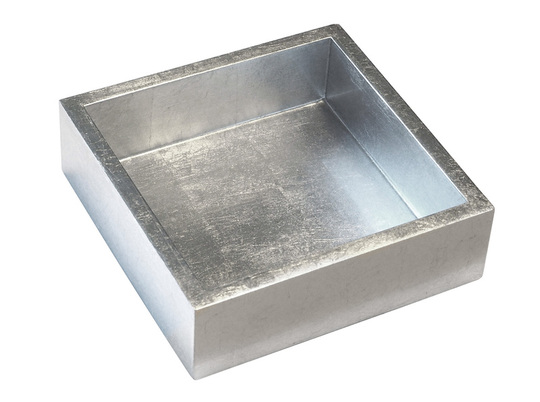 Silver Lacquer Cocktail Napkin Holder