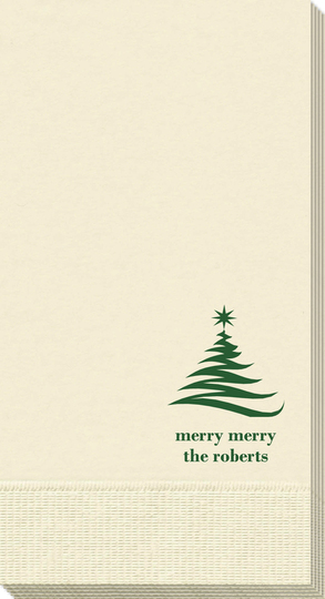 Artistic Christmas Tree Guest Towels