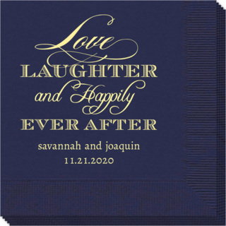 Love Laughter Ever After Napkins