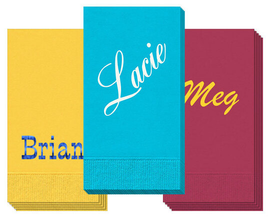 Design Your Own Big Name Guest Towels