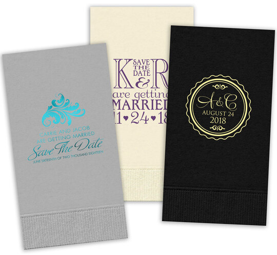 Custom Guest Towels with Your 1-Color Artwork
