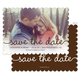 Brown Marker Photo Save the Date Cards Image 1 of 6