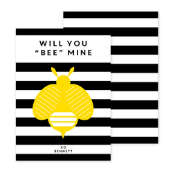 Bee Valentine Exchange Cards