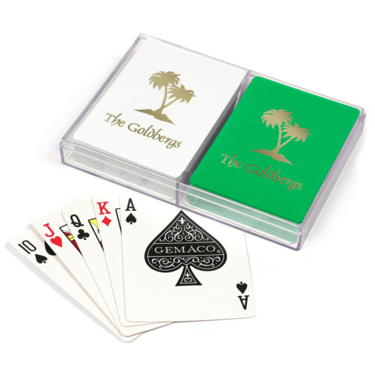 Palm Trees Double Deck Playing Cards