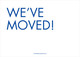 Blue We've Moved Moving Announcements Image 2 of 3