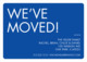 Blue We've Moved Moving Announcements Image 3 of 3