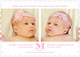 Pink Initial Twins Photo Birth Announcements Image 6 of 6