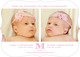 Pink Initial Twins Photo Birth Announcements Image 3 of 6