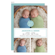 Slate and White Simple Twins Photo Birth Announcements Image 1 of 3