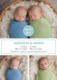 Slate and White Simple Twins Photo Birth Announcements Image 3 of 3