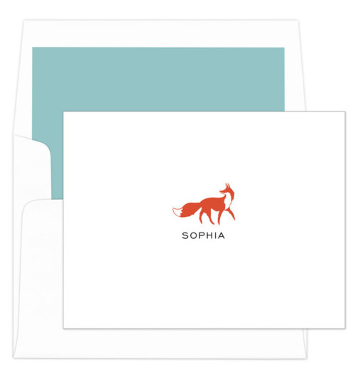 Fox Folded Note Cards