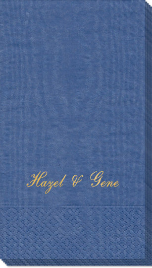 Formal Script Moire Guest Towels