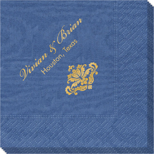 Simply Ornate Scroll Moire Napkins